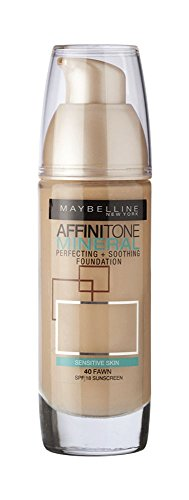 Maybelline Affinitone Mineral Foundation SPF18 30ml - 040 Fawn by (Maybelline Mineral Foundation)