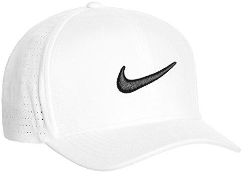 Nike 803330-100 Casquette Mixte Adulte, Blanc/Anthracite/Noir, FR : M (Taille Fabricant : M/L)