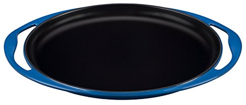 Le Creuset 20128002000460 Grillplatte, oval, Gusseisen emailliert -