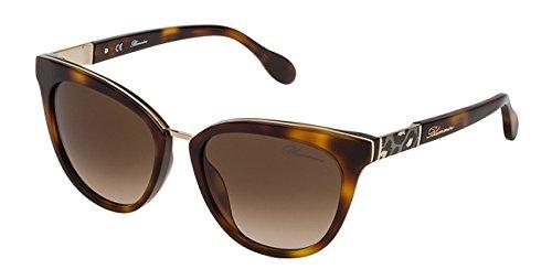 Occhiali da sole blumarine donna avana scuro lucido lenti brown gradient sbm713 0752 53-18-135