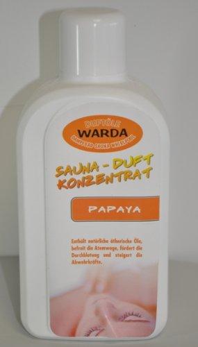 1 l Warda Aufguß Papaya für die Sauna, Konzentrat, Saunaaufguss, hohe Konzentration (Papaya-gelee)