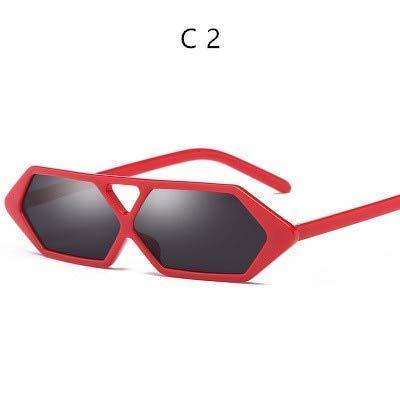 GFF Retro Kleine Sonnenbrille Rechteckige Frauen Geschenk Platz Cat Eye Sonnenbrille Weiblich Männlich UV 400