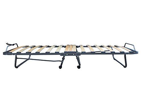 Europrimo Brandina pieghevole con materasso ortopedico e rete a doghe 80x200 cm