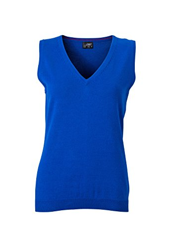 James & Nicholson Damen V-Neck Pullunder, Blau (Royal), 38 (Herstellergröße: L) (V-neck Royal)