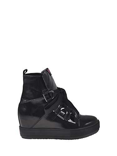 Fornarina meti, sneaker a collo alto donna, nero (black 000), 40 eu