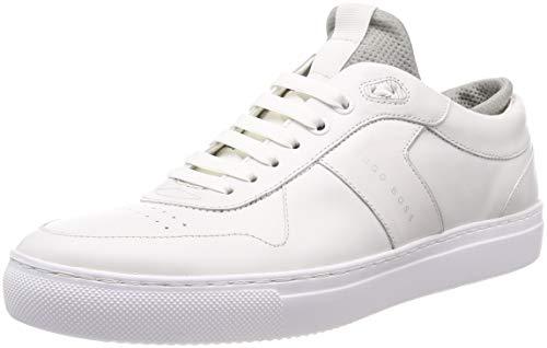 BOSS Herren Enlight_Tenn_lux Sneaker, Weiß (White 100), 44 EU