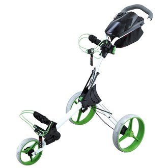 2015 BigMax IQ+ 3-Wheel Pull/Push Golf Trolley/Cart White/Lime
