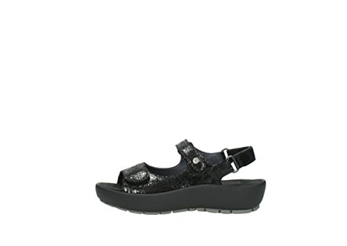 Wolky Womens 3325 Rio Leather Sandals Noir
