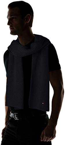 Tommy Hilfiger Men's Pima Cotton Cashmere Scarf, Grey (Charcoal HTR 051), One (Size: OS)