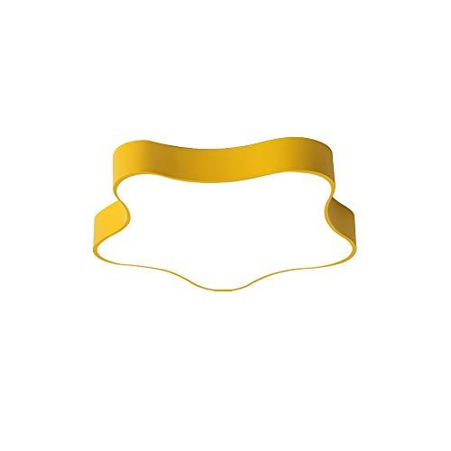RXM Pentagram Lámparas de Techo Modernas Macaron Habitación Sencilla y cálida Sala de Estar Habitación Infantil Baño Balcón (Color : Yellow, Size : 16.9in)