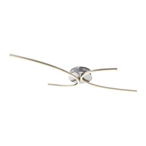 Preisvergleich Produktbild Plafonnier LED en nickel mat 7, 5x46x95cm