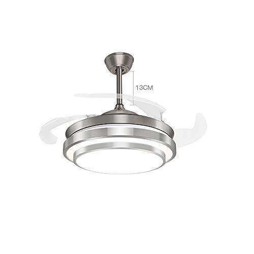 """moderno lampadario a LED a ventaglio, camera da letto silenziosa lampada da soffitto a soffitto, semplice ventilatore a luce dimming, con telecomando-42\"""""""