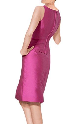 Sunvary Glamour Neu Kurz Mutterkleider 2017 Satin Abendkleider mit Jacke Rot