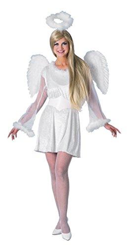 Kleid 'Unschuldiger Engel' inklusive Engelsflügel + Heiligenschein für Karneval RUBIES 215213