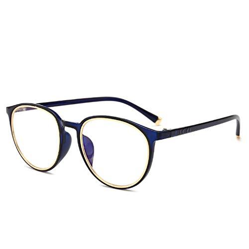 LSS Unregelmäßige Gläser Mit Großem Rahmen, Flacher Spiegel, Dekorative Gläser, Lesebrillen, Myopie-Rahmen (Farbe : C)