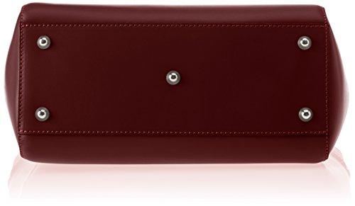 Chicca Borse Damen 8807 Schultertasche, 36x24x13 Cm Rosso (bordo)