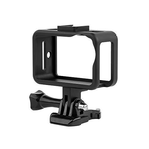 ULANZI Aluminiumlegierung OSMO Action Schutz Frame Shell Cage Schutzgehäuse Case w Kaltschuhhalterung Erweiterung für Mikrofon LED-Videoleuchte für DJI OSMO Action Videomaking Vlogging Zubehör -