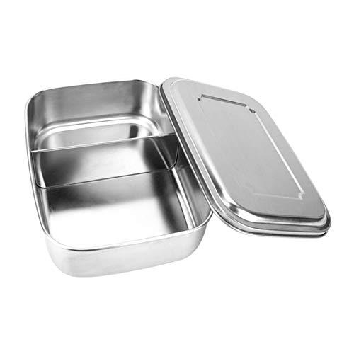 Ingrirt5Dulles 1/2/3 Plaid Edelstahl tragbare Lebensmittelbehälter Student Lunchbox/Lunchbox ist sehr geeignet für Büro/Schule/Picknick/Camping 1000ml 2 Gitter (Planetbox-lunch-box)