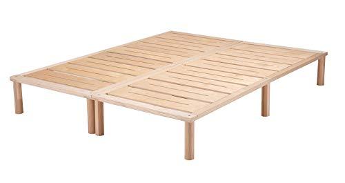 Gigapur G1 26981 Bett | Bettgestell mit Lattenrost | Birke Natur Schicht-Holz | belastbar bis 195 kg je Element | Holzbett 160 x 200 cm (2 x 80 x 200 cm)