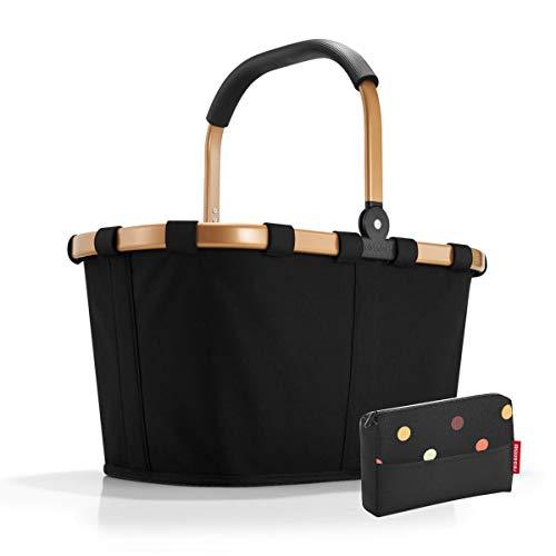 Gold Frame (reisenthel carrybag/Einkaufskorb/Einkaufstasche + pocketcase Frame Black/Gold)