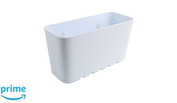 Sanixa Lot de 2 /étag/ères de Douche en Plastique avec ventouses//Panier de Douche Blanc