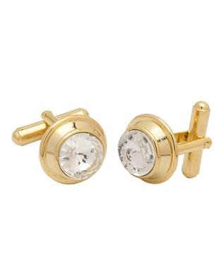Voylla Fashion Gold Brass cufflink Gift For Men  available at amazon for Rs.211