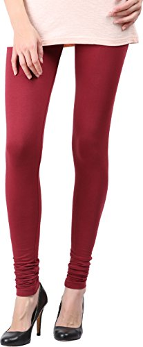 Snowdrop Women's Cotton Leggings (SDLG019_Maroon_X-Large)
