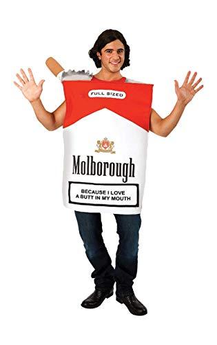 Zigarette Kostüm - Generique - Zigarettenschachtel-Kostüm humorvolle-Verkleidung für Erwachsene bunt Einheitsgröße