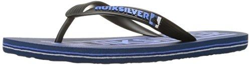 Quiksilver - Sandales Molokai Wordmar Hommes - Black/Blue/White