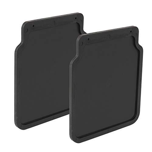 Schmutzfänger universal Gummi 23x20cm schwarz für Anhänger, Wohnwagen, Pkw (2)