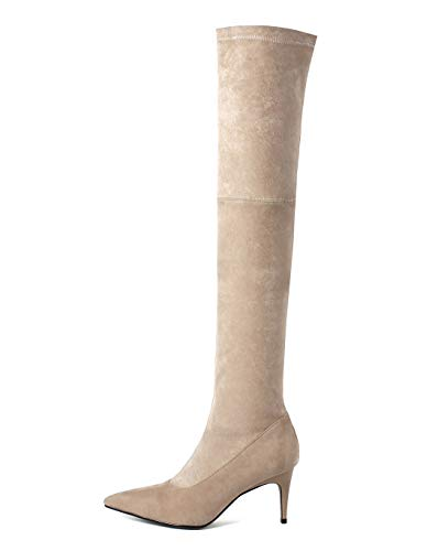 9fabb4da552 Maypie Women s Over The Knee Boots Thigh High Pointed Toe Autumn Winter Long  Stiletto Boots With Zip - £70.88