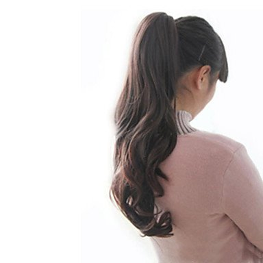 HJL-Pferdeschwanz Perücke Clip hitzebeständige synthetische Haare Schwanz Frauen natürlichen Kostüm langen lockigen Pferdeschwanz (Peru Kostüme Frauen)
