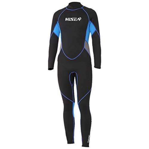 QIMANZI Taucheranzug Herren 3MM Sunblock Neoprenanzug zum Tauchen Surfen Schwimmen Ganzkörper(A Schwarz,L)