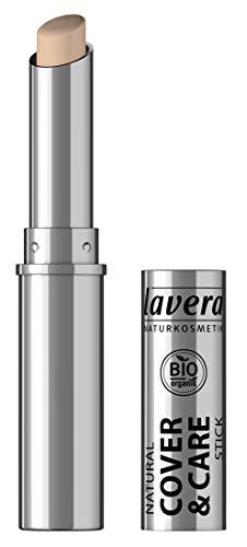 lavera Cover & Care Stick -Ivory 01- Abdeckstift ∙ Deckt Rötungen und Unregelmäßigkeiten ab ∙ Vegan ✔ Naturkosmetik ✔ Natural Make-up ✔ Bio Pflanzenwirkstoffe ✔ 100% natürlich 3er Pack (3x 1.7 g)