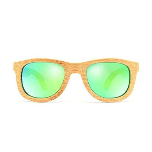 daab12de15e5 Z YQ Gafas de sol Polarized Carbonized Bamboo Wooden Vintage eyeglasses  Eyewear
