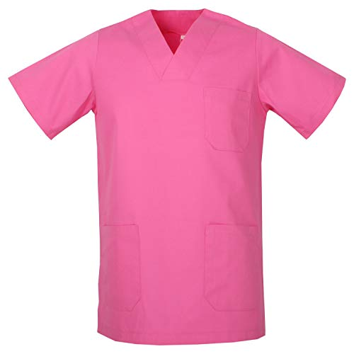 MISEMIYA - Medizinische Uniformen Unisex Top Krankenschwester Krankenhaus Berufskleidung - X-Small, T-Shirt Hemd - Fuchsia