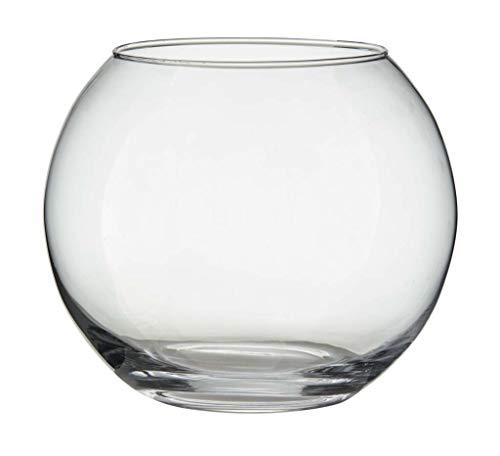 Annastore 12 x Teelichtgläser klar H 8 cm - kleine Windlichter aus Glas für die Tischdeko - Teelichthalter - Kerzengläser - Glasteelichthalter - Kerzenwindlicht