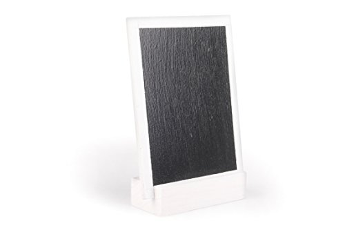 10 Blackboard Aufsteller mit Fuß Holz , weiß ca. L:9cm/B:7cm