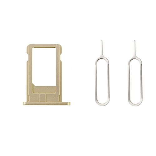 Sim Kartenhalter + 2 Pins Eject für iPhone 6 plus Gold (Sim-karte Für Verizon)