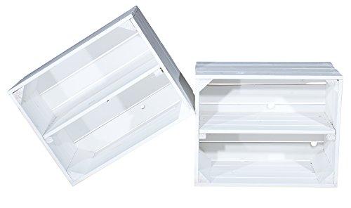 4er Set Weiße Kiste für Schuh- und Bücherregal - 50x40x30 cm