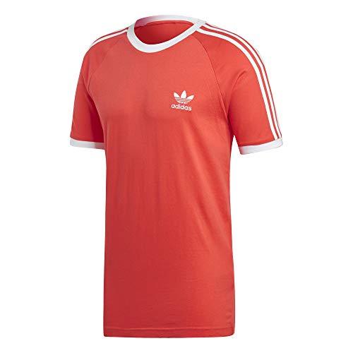 Adidas 3-stripes teemaglietta, uomo, rosso (rojbri)