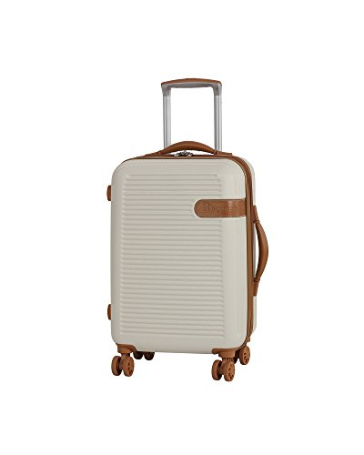 es en vogue 55cm handgepäck-größe Erweiterbar Hartschalen vier mit Rollen Koffer creme