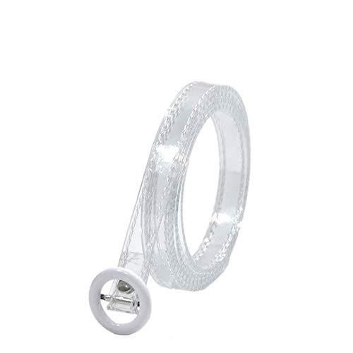 Deretder Pvc transparent frauen gürtel für frau party dress glatte schnalle dünne modellierung gürtel White