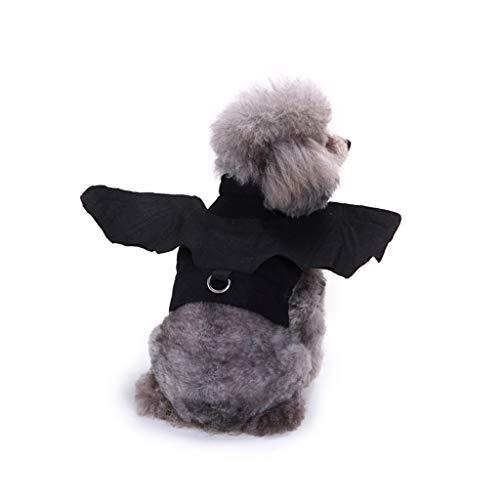 Halloween Kostüm für Haustier, Halloween Fledermaus Flügel Kostüm Kostüm für kleine große Hunde & Katze Kätzchen, Katze Kostüm Haustier Kostüm-schwarz (größe : S)