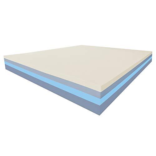 Baldiflex materasso memory easy super top matrimoniale con rivestimento sfoderabile in aloe vera, misura 160x190x23 cm