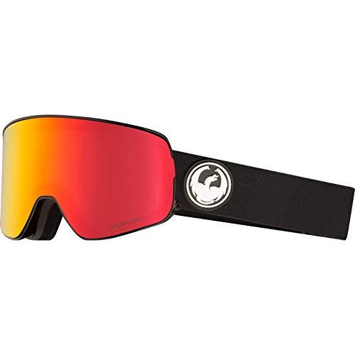 Dragon Herren Schneebrille NFX2 Black (+Bonus Lens) Goggle Red Ion Lens