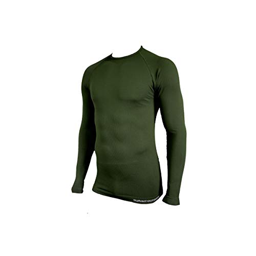 dbab1ed1a74a SUMMIT OUTDOOR Tee-Shirt Technical Line Col Rond Vert OD