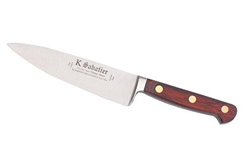 K Sabatier - Cuisine Large 16 Cm K Sabatier - Gamme Auvergne - Acier Inoxydable - Manche Bois - 100% Forge - Entièrement Fabrique En France