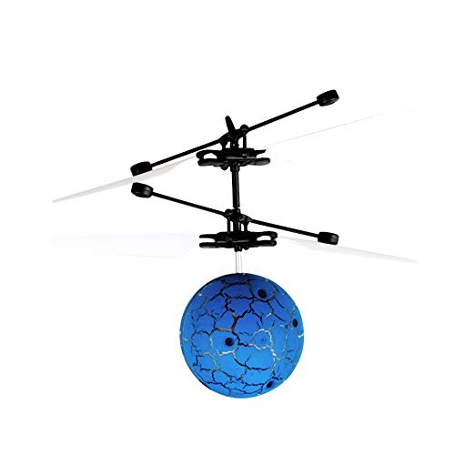 WEIHUIMEI 1PC Bunte ferngesteuerte Spielzeug-Infrarot-Induktion Drohne Helikopter Ball integrierte leuchtende LED Beleuchtung Fliegender Ball, blau