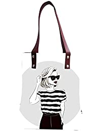 Tote Bag | Tote Bags For Girls | Canvas Tote Bag | Hand Bag | Stylish Tote Bag | Shopping Bag | Digital And Screen... - B07GPPG8MK